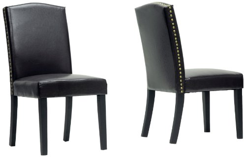 Baxton Studio Trullinger Modern Dining Chair, Dark Brown, Set of 2 (Traditional Wingback Side Chair compare prices)