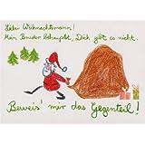 Witzige Postkarte Weihnachtsbeweis