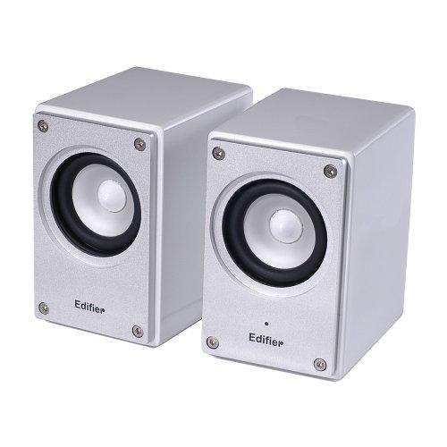 Edifier MP210, Stereo-Soundsystem mit 2x 3W Satelliten, weiß/silber