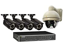 Q-See QT5682-5L7-1 8-Channel 960H DVR with 4 High-Resolution Cameras 1 Pan-Tilt Camera and Pre-Installed 1 TB Hard Drive (Black)