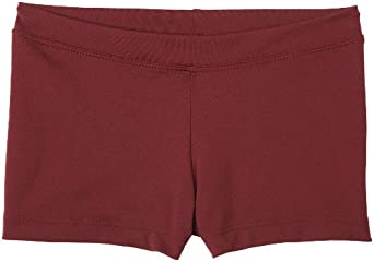 Capezio Girls 7-16 Boy Cut Low Rise Short,Maroon,M (8-10)