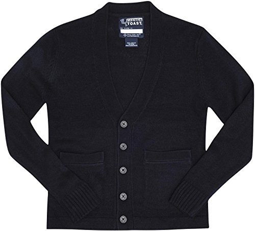 French Toast School Uniforms Anti-Pill V-Neck Cardigan Sweater Boys navy 8