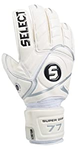 Select Super Grip Goalie Glove (White, Size 10)