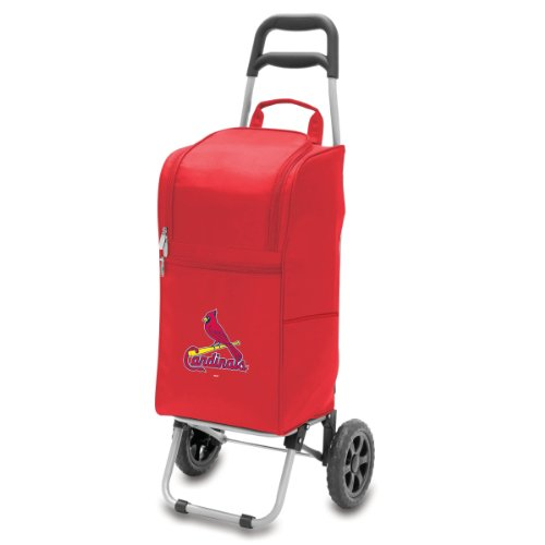 Mlb St. Louis Cardinals Insulated Cart Cooler With Wheeled Trolley front-600266