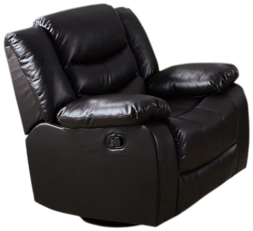Acme 50577 Torrance Motion Rocker Recliner With Swivel, Espresso Bonded Leather Match front-944009