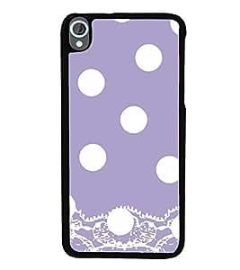 Vizagbeats White Polka Dot Pattern Back Case Cover for HTC DESIRE 820