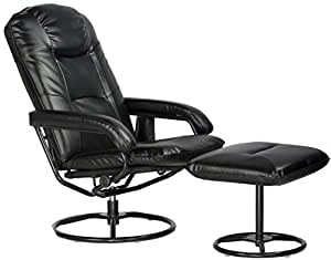 Comfort Products 60-0582 Leisure Recliner Chair with 10-Motor Massage & Heat, Black
