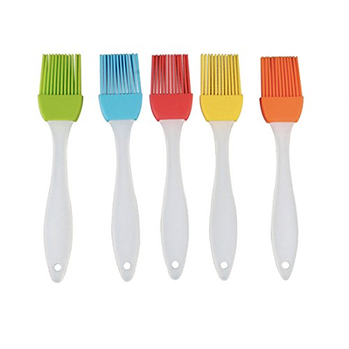 Why Choose Smic-Trade BBQ Basting Brush, Silicone Pastry Brush Multi Color 5 in 1 (17cm)