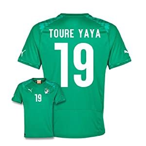 2014-15 Ivory Coast World Cup Away Shirt (Toure Yaya 19)