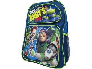 Disney Pixar Toy Story 3 Boys Large Blue School Backpack Featuring Buzz & Woody (We're Andy's Toys) Large 16