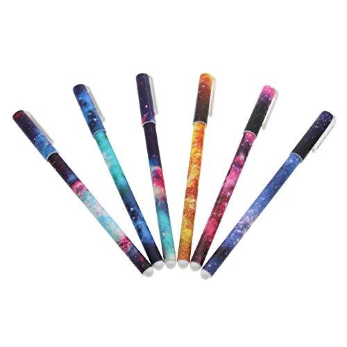 6pcs-038mm-starry-galaxy-gel-pen-watercolor-roller-ball-pen-marker-for-office-diary-scrapbooking-doo