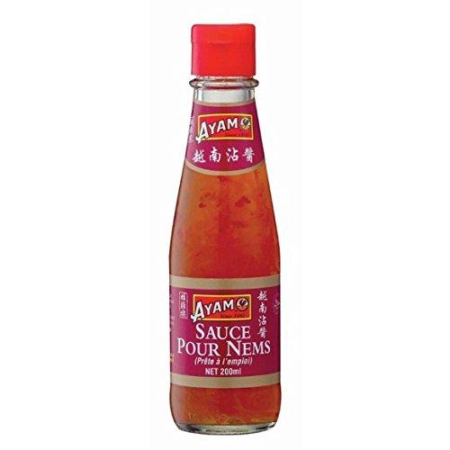 Ayam - Sauce pour nems - La bouteille de 200ml - (pour la quantité plus que 1 nous vous remboursons le port supplémentaire)