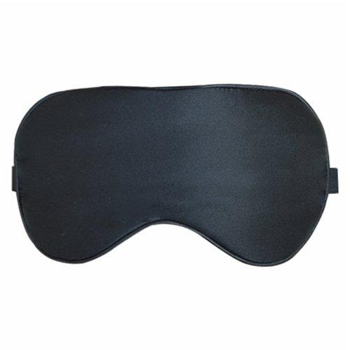cosfy Imbottitura 100% Seta di Gelso 19mm maschera per dormire, seta, leggero, estremamente morbido, leggero, resistente, Deal scelta Blocca per casa, viaggio, yoga, utile per Insomniacs, secco/Puffy Occhi Black