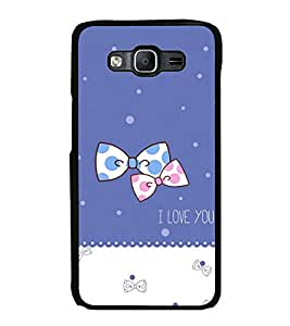 Printvisa Ultra Bow Pair 2D Hard Polycarbonate Designer Back Case Cover for Samsung Galaxy On...