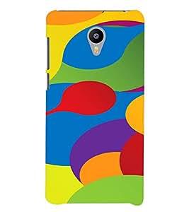 PrintVisa Colorful Pattern 3D Hard Polycarbonate Designer Back Case Cover for YU Yunicorn