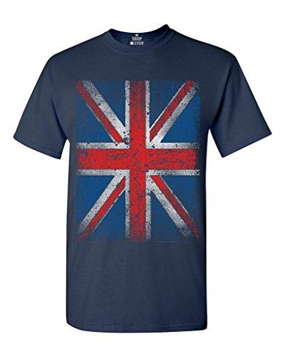 Shop4Ever Union Jack T-shirt British Flag Shirts XXXX-Large Navy 13315 (British Shirt For Girls compare prices)