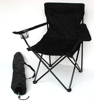Campingstuhl - klappbar mit Getränkehalter und Tragetasche