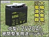 Kung Long / WP20-12 (GP12170 PE12V17 NPH16-12T 12m17W HF17-12A 12SSP18互換) 12V用 サイクルバッテリー シールド型 MF