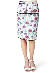 Limited Collection Floral Peplum & Pencil Skirt