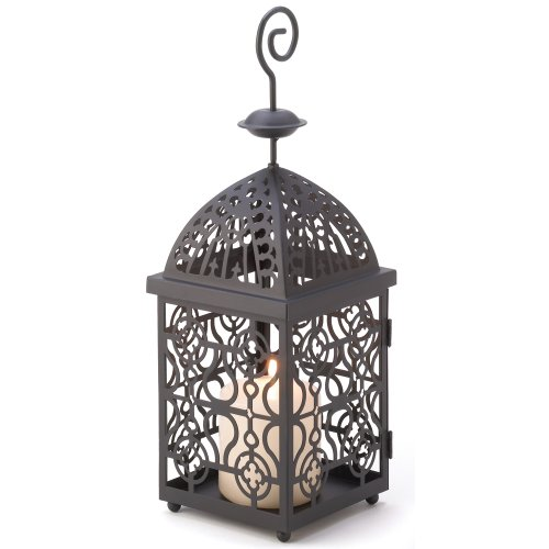 Gifts & Decor Moroccan Birdcage Iron Candle Holder Hanging Lantern front-710554