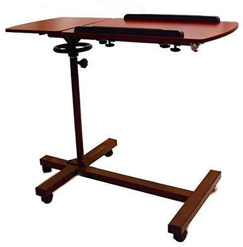 SHARPER IMAGE Best Over Bed TableTM, Overbed Adjustable Tilt Table