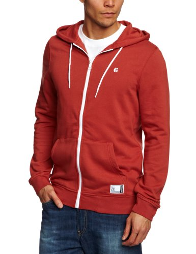 Etnies Classic Zip Fleece Men's Sweatshirt Rust Small