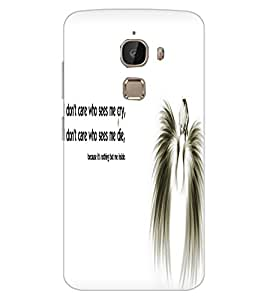 ColourCraft Angel Quote Design Back Case Cover for LeEco Le 2