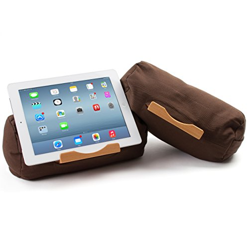 Lap Log Classic - iPad Pillow - Good for Reading in Bed - Top Rated on Amazon - Made in the USA - Nutmeg Brown (Lap Tablet Stand compare prices)