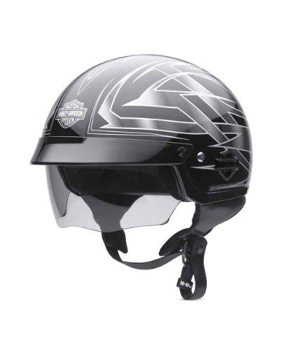 Harley-Davidson? Men's Blade Half Helmet with Retractable Sun Shield. Tribal Graphics. Helmet Bag Included. 98353-11VM
