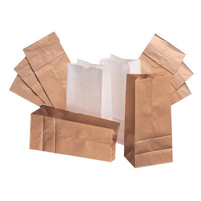 2 Kraft Paper Bag in Brown with 500 Per Bundle