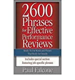 img - for [(2600 Phrases for Effective Performance Reviews: Ready-to-use Words and Phrases That Really Get Results )] [Author: Paul Falcone] [Jun-2005] book / textbook / text book