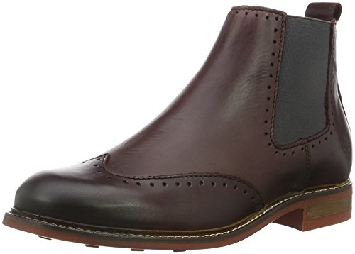 Marc O'PoloFlat Heel Chelsea - Stivali bassi con imbottitura leggera Donna , Rosso (Rot (Bordo 375)), 38