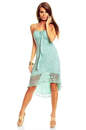 vokuhila kleid kurz spitze sommerkleid strandkleid mint gr n bekleidung. Black Bedroom Furniture Sets. Home Design Ideas