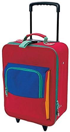 "Mercury Kids 16"" Upright Rolling Luggage - Red Multi"