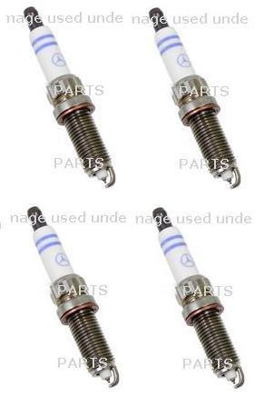 Set of 4 Spark Plug BOSCH 0041596403 Mercedes Benz W166 W204 W207 W212 W218 W221 R350 2015 (W204 Spark Plugs compare prices)
