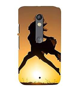 Girl Running 3D Hard Polycarbonate Designer Back Case Cover for Motorola Moto X Force :: Motorola Moto X Force Dual SIM