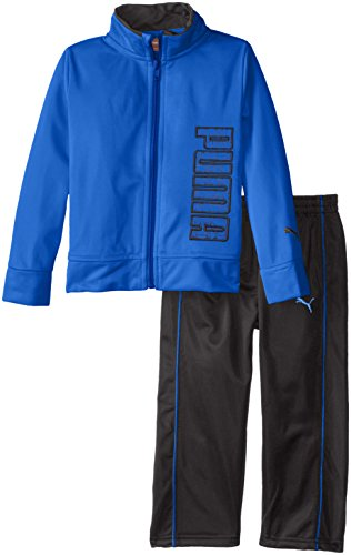 PUMA Little Boys' Toddler Tricot Track Set, Royal, 3T