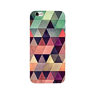 iSweven Printed _iph6_3167 Color full Triangle Design Multicolored Matte finish Back case cover for Apple iPhone 6