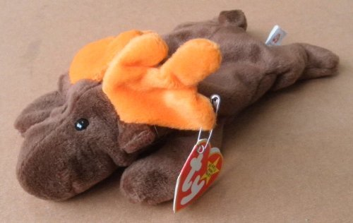 TY Beanie Babies Chocolate the Moose Plush Toy Stuffed Animal
