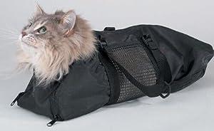 WOpet Nylon Cat Grooming Bag Medium Black