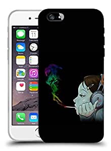 Snoogg Girl Smoking Designer Protective Back Case Cover For IPHONE 6