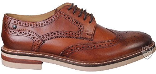 BASE LONDON APSLEY PI13248 tan scarpe uomo pelle derby inglese 40