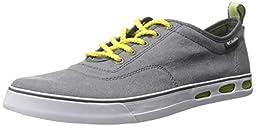 Columbia Men\'s Vulc N Vent Lace Casual Shoe, Shale/Chartreuse, 7 D US
