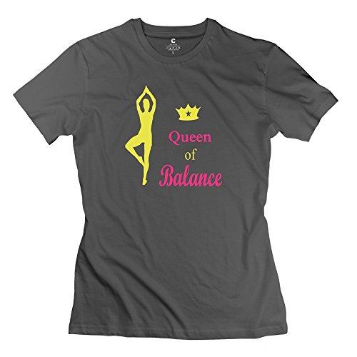 Zhitian Women'S Yoga Queen Balance T-Shirt - Xxl Deepheather
