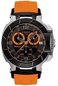 Mens Watch Tissot T0484172705704 T-Race T-Race Analog Chronograph Black Dial Ora