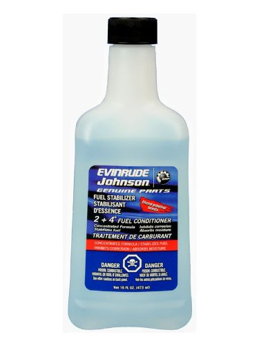 Johnson Evinrude 2 + 4 Fuel Conditioner 16-oz Bottle 0766209