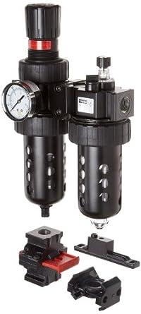 Parker 07H Standard Series Two-Unit Combo Compressed Air Filter/Regulator/Lubricator, NPT