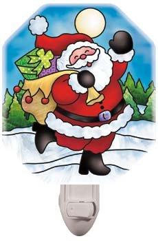 Night Light-NL434R-Joyful Santa