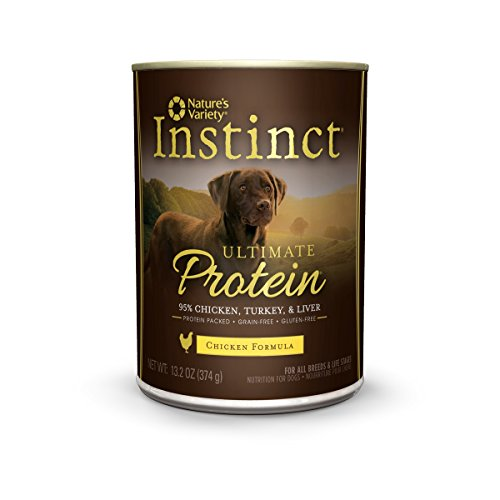 Nature's Variety Instinct Ultimate Protein Grain Free Chicken Formula Canned Dog Food, 13.2 oz. Cans (Case of 12) (Instinct Canned Chicken Dog Food compare prices)