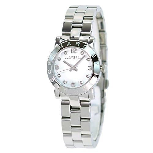 マーク バイ マーク ジェイコブス MARC BY MARC JACOBS レディース 腕時計 時計 女性 Small Amy スモールエイミー MBM3055 大人のシルバー メタルバンド  かわいい アナログ [並行輸入品]